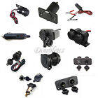 12v Motorcycle/bike Cigarette Lighter Plug Waterproof USB Power Socket Adapter