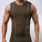 Sexy Muscel Men's Smooth Underwear T-Shirt Home GYM Sports Undershirt Tops S M L