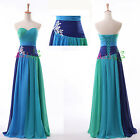 Stock Long Chiffon Wedding Evening Formal Party Ball Gown Prom Bridesmaid Dress