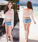 New Women Wash Denim Hotpants Vintage Slim Cut Off Low Waisted Shorts Jeans High