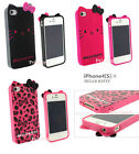 Leopard Black/Pink Hello Kitty TPU Soft Case Back Cover for iPhone/Samsung gb***