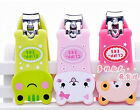 1pc New Lovely Mini Cartoon Animal Nail Clippers Nail Scissors With Keychain