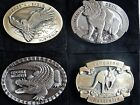 BELT BUCKLE- TROUT KANGAROO & EAGLE - AUSTRALIAN MADE HIGH GRADE PEWTER ALLOY
