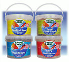 4 Different Supa Pond Fish Food in 3 Litre Buckets Granules Pellets Flake Sticks
