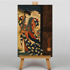 LARGE WALL ART 30x20 Inch - Oriental Japanese Taiso - Courtesan fixing her hair