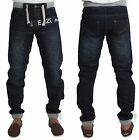 MENS ENZO EZ293 DARK-WASH CUFFED JOGGER STYLE JEANS ALL SIZES  28 TO 48