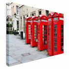 London Red Phone boxes Canvas Art Cheap Wall Print Large Any Size