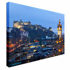 Edinburgh Castle with Cityscape Canvas Art Cheap Wall Print Large Any Size