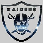 Raiders Shield Chrome Mirror Film Race Car Style Sticker Truck Auto Window Decal