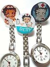 BETTY BOOP Nurse Watch Stainless Steel Quartz Fob Pocket Watch Clip On Brooch £3.99 GBP on eBay