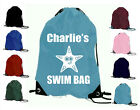 SWIMMING SWIM PERSONALISED GIRLS BOYS STARFISH FISH GYM PE SCHOOL SPORTS BAG