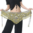 New Belly Dance Costume Hip Scarf Belt Leopard velvet  480pcs Golden Coins