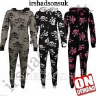 NEW KIDS GIRLS BOYS SKULL CROSS BONE Onesie ALL IN ONE JUMPSUIT SIZE 7-13 YEARS