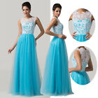NEW COMING~Elegant Long Bridesmaid Lace Gown Dancing Evening Prom Wedding Dress