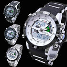 WEIDE Luxury Mens Army Military Dual Display Alarm Chronograph Sport Wrist Watch