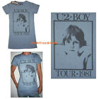 U2 t-shirt BOY TOUR 1981 Junk Food Fitted SLIM & LONG Classic Rock Rare NEW SALE