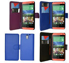 For HTC Desire 610 Phone 3 Colour PU Leather Flip Wallet Case Cover
