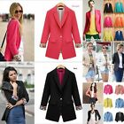 2014 New Womens Ladies Candy Colors Stylish Suit Jacket Blazer Size 6 8 10 12 14