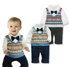 Baby Boy Winter Smart Casual  Outfit, Christmas Snowflake & Bow Tie 12-18 Months