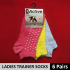 3-6 PAIRS TRAINER SOCKS- Cotton Sports Womens Ladies Girls Ankle Shoes Clothing
