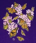 MONARCHS AND MILKWEED MEDLEY--Butterflies Nature Insects Bugs T shirt Small only