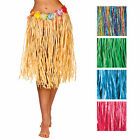 Hula Grass Skirt 60cm Artificial Flowers Hawaiian Fancy Dress Costume Accessory