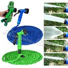 Expandable Flexible Garden Water Hose Pipe w / Spray Nozzle Gun 25 50 75 100 FT