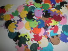 Martha Stewart cardstock Paper ELEPHANTS hand punched die cuts mixed colors