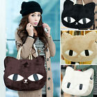 Cute Cat Shape Women Hobo Totes Shoulder Bags Handbag Casual Satchel Shopper Bag