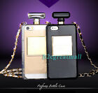 Luxury Fashion Bottle TPU Silicone Case Cover With Chain F Iphone 4 4S 5 5S 5G