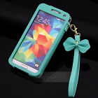 BOW Chain Wristlet Strap Pouch Sleeve Leather Case for Samsung Galaxy S5 I9600