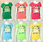 New Women Ladies Plus Size Lovely Butterfly Design Cap Sleeves T-Shirt Dress Top