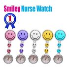Smiley Face Nurse Table Pocket Watch with Clip Brooch Quartz Watches