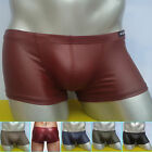 CLEARANCE~Sexy Mens Boxer Elasticity Pouch Faux Leather Underwear Under Enhance