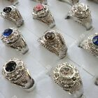 5pcs-20pcs wholesale jewelry Men's rhinestone silver plated Rings free shipping