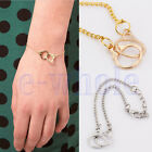 charming Fashion Delicate Golden Silver Alloy Handcuffs Bracelet 2 colors WS