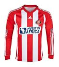 SUNDERLAND AFC 2012/13 ADIDAS HOME RED/WHITE L/S FOOTBALL SOCCER SHIRT JERSEY