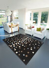 LARGE MEDIUM SMALL SPACE DUST CHOC COLOUR THICK HARLEQUIN BEST BUDGET RUGS