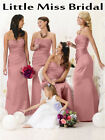 Dusky Dusty Pink Rose Bridesmaid Dress Dresses Evening Ball Party Prom Wedding