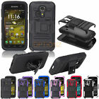 RUGGED HYBRID CASE BELT CLIP HOLSTER COVER FOR KYOCERA HYDRO ICON C6730