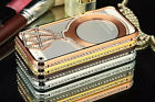 Star Bling Crystal Rhinestone Hard Metal Bumper Case Cover For Apple iPhone 5S 5