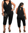 Plus Size Women Black Party Short Playsuit Jumpsuit Size 14 16 18 20 22 24 NEW