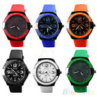 Men's Hot Vogue Silicone Rubber Jelly Band Sport Quartz Analog Wrist Watch