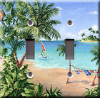 Light Switch Plate Cover - Beach scenes - Paradise island palm sand sea sail sun