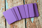 50pc blank AMETHYST Purple Business Cards assorted size ATC craft DIY name cards