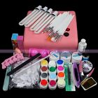 36W Acrylic Lamp Light 12 Colors Pure UV Gel Nail Art Decoration Sets Kits Tools