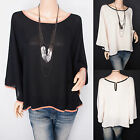 Free Necklace Chiffon Bell Sleeves Semi Sheer Bohemian Top Blouse