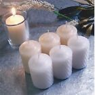 4-15 Hour Unscented Survival Votive White OR Ivory Candles~Longer Burn~USA~WOW!