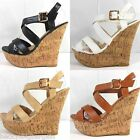 Kyпить New Women's Fashion Wedge Cork Sandal High Heels Platform Slip On Strappy Pumps на еВаy.соm
