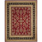 Safavieh Power Loomed Lyndhurst RED / BLACK Area Rugs - LNH331B
